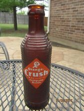 1947 ORANGE CRUSH Amber Art Deco Soda Bottle