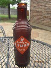 1947 ORANGE CRUSH Amber Art Deco Soda Bottle