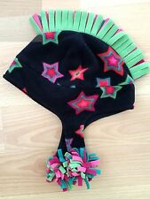 BOYS GIRLS KIDS MOHAWK HAIR BLACK MULTI COLOR BEANIE HAT ONE SIZE WINTER C@@L