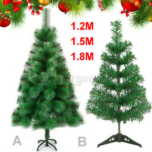 Christmas Tree 5ft 6ft Artificial Party Xmas Gift Stand Ornament Home Decor