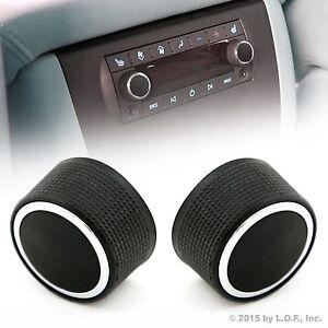 2 Rear Control Knobs Audio Radio Fits Escalade Enclave Tahoe Chevrolet GMC Pair