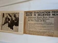 Big Scrapbook - Newspaper Clippings 1941 War News Tobruk   etc