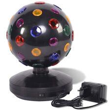 Palla Disco Rotante con Luci a LED Diametro 20 cm Party Fan Lights 230V