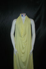 Bamboo Spandex Jersey Knit Fabric High End Fabric BY THE YARD Light yellow 10oz