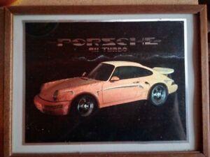 VINTAGE FRONT DETAILS PORSCHE 911 TARGA Leinwand Bild Rot 912 Nostalgie Druck