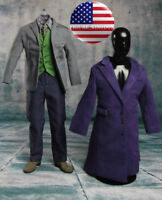 1/6 Joker Heath Ledger Suit Set The Dark Knight Batman For DX01 DX11 Hot Toys