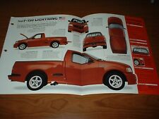 ★★1999 FORD SVT LIGHTNING SPEC SHEET BROCHURE POSTER PHOTO 99 00 01 02 04 f150★