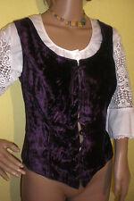 violette Samt- Korsage Mieder von Rieger Gr 40 / 42