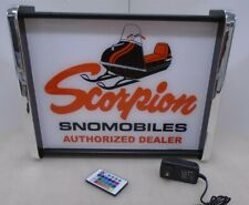 Scorpion Snowmobiles Authorized Dealer LED Display light sign box