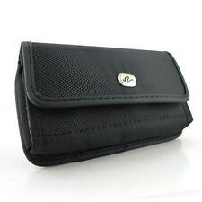 Black Horizantal Heavy Duty Rugged Clip Side Case Pouch For AT&T Sonim XP5