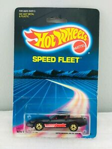 Hot Wheels Blackwall 80's CORVETTE Black #1457 NEW ON CARD BLISTER BP