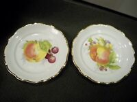2 VINTAGE JOHANN HAVILAND BAVARIA GERMANY FRUIT PLATES   7 3/4''
