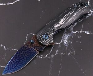 Dragon Scale Damascus VG10Steel Camping Hunting Portable Folding Pocket Knife