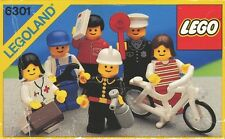 Lego Classic Town 6301 Town Mini Figures NEW SEALED 1986' LEGOLAND Rare Bicycle