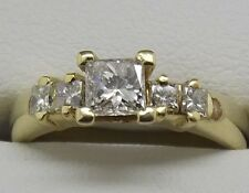 SOLID 18CT YELLOW GOLD DIAMOND ENGAGEMENT/DRESS RING VALUE $3405