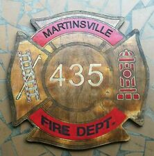 Custom made routed signs. Fire themed.
