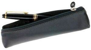 Leather Stift-Mäppchen Case Zip For Ballpoint Hans Kniebes Germany