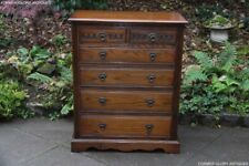 OLD CHARM LIGHT OAK CHEST OF DRAWERS BEDSIDE CABINET LAMP PHONE TV TABLE STAND