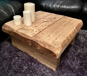 Square Rustic Reclaimed Coffee table solid wood 3 inches thick all colours sizes