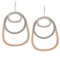 Jane Diaz Sterling Silver Brass Copper 3 Tiered Earrings QVC $60 Sold Out!
