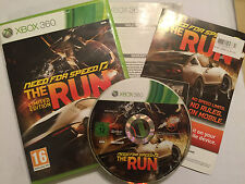PAL XBOX 360 NEED FOR SPEED RACING RACE GAME N4S THE RUN LIMITED EDITION BOX