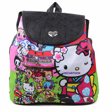 SANRIO KT X TOKIDOKI KYOTO THEME PU BACKPACK SHOULDER BAG SCHOOLBAG 285210