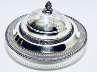Stunning Antique Victorian Style Barbour Silver Plate Dish Dome