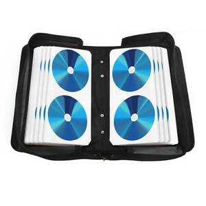 120 Sleeve CD-DVD Blue Ray Disc Carry Case Holder Wallet Storage Ring Binder UK