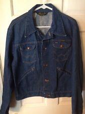 Wrangler Denim Jean Jacket Black Label Made in USA Size 44