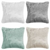 Pack Of 4 Faux Fur Super Soft Filled Cushion Cover 18x18 Bedroom / Living Room