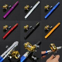 1m Mini Portable Pocket Fish Pen Shape Aluminum Alloy Rod Reel Fishing Pole R7V5