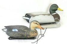 Pair (Male/Female) Mallard Plastic Hunting Decoys