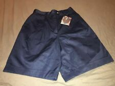Cutter & Buck Womens Navy Blue Golf Shorts Size 8 Cotton Pleated Front New