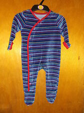M&S Cotton Rich Striped All-In-One Suit w/Integrated Feet 3-6m 69cm Multi BNWoT