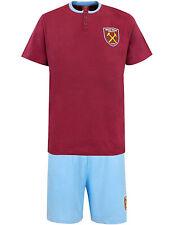 Mens West Ham United Pyjamas Set T Shirt Pyjamas Buttoned Football Pjs Gift