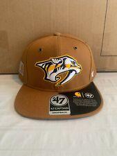 Nashville Predators Nhl '47 Brand Carhartt Captain Mens Brown Snapback Hat New