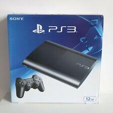 12GB SONY PLAYSTATION 3 PS3 SUPER SLIMLINE BLACK CONSOLE - NEW & SEALED