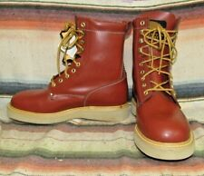 Mens Vintage Western Chief Brown Leather Lace Up Crepe Sole Work Boot 9 D NEW