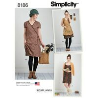 Simplicity Pattern 8186 Misses' Wrap or Slip Dress Dottie Angel Frock P5 12-20