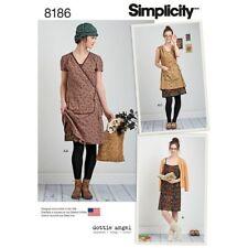 Simplicity Pattern 8186 Wrap or Slip Dress Dottie Angel Frock Girls sizes 4 -12