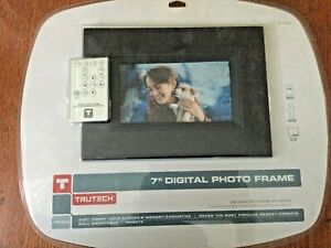 Trutech 7 inch Digital Photo Frame with remote & battery Sealed box Brand New