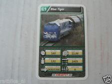 22 SUPER TRAIN C1 BLUE TIGER TREIN KWARTET KAART, QUARTETT CARD