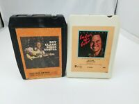 Roy Clark 8 Track Tapes Set of 2 Labor of Love & Sings Gospel ABC FREE SHIPPING