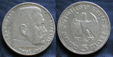 MONETA COIN GERMANIA GERMANY THIRD REICH 5 MARKS 1936-A HINDEMBURG SILBER SILVER