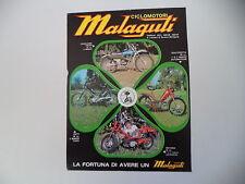advertising Pubblicità 1974 MALAGUTI FIFTY/CAVALCONE CROSS 50/QUATTROTTO/MOTORIK