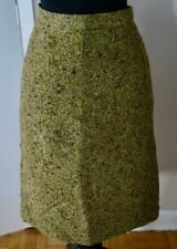 J Crew Collection Size 12 Green Tweed Pencil Skirt - Fully Lined