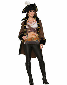 Buccaneer Jacket With Shirt Womens Adult Pirate Costume Accessory-Std