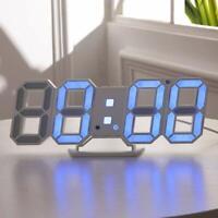 Modern 3D LED Digital Table Wall Clocks Alarm Snooze Temperature Indoor Decor US