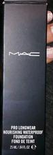 Authentic Mac Pro Longwear Nourishing Waterproof Foundation Pick 1 Shade In Box