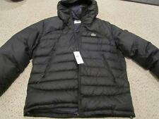 Lacoste Water Repellant Down Black Jacket Coat w/ hood NWT 56 XXL $295 ( XL)